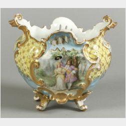 Limoges Hand-Painted Porcelain Jardiniere