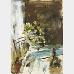 Philip Jamison (American, b. 1925)  Still Life: Windsor Chair