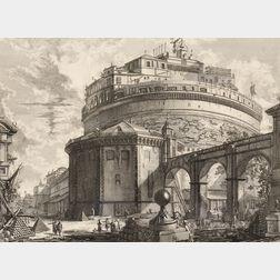 Giovanni Battista Piranesi (Italian, 1720-1778)      Veduta del Mausoleo d'Elio Adraino (ora chiamato Castello S. Angelo)