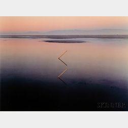 John Pfahl (American, b. 1939)    Great Salt Lake Angles, Great Salt Lake, Utah