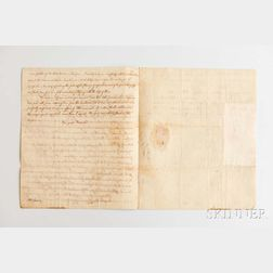 Adams, John Quincy (1767-1848) Autograph Letter, 26 March 1799.