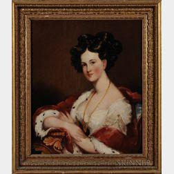 Attributed to Gilbert Stuart (Massachusetts, Rhode Island, England, 1755-1828)      Portrait of Mrs. Clement