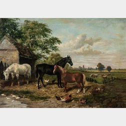 Attributed to John Frederick Herring Sr. (British, 1795-1865)      Farm Scene