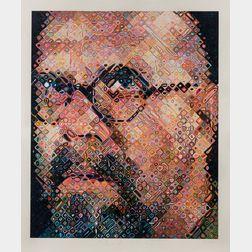 Chuck Close (American, b. 1940)      Self Portrait