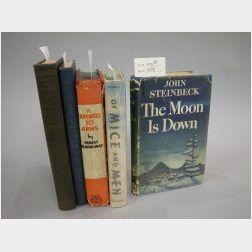 Five John Steinbeck and Ernest Hemingway titles
