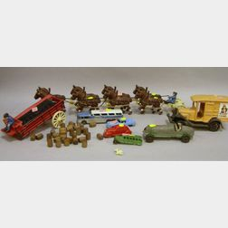 Group of Cast Iron and Metal Toys