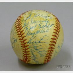 1962 Minnesota Twins Autographed Baseball