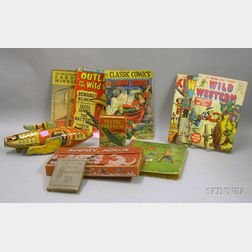 Group of Children's Toys, Comic Books, and Books
