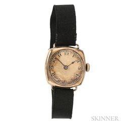 Art Deco 14kt Gold Wristwatch