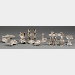 Twelve Pewter Chocolate Molds and a Candy Mold Manufacturer's Catalogue
