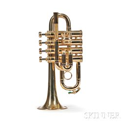 French Piccolo Trumpet, Henri Selmer, Paris, 4 Valve