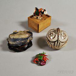 Four Decorative Asian Items