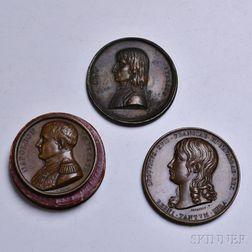 Three Bronze Napoleonic Medals