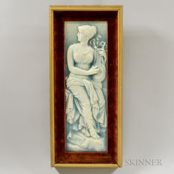 Beaver Falls Art Tile Co. Classical Woman Playing the Lute Tile