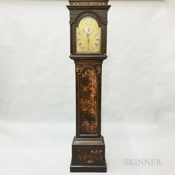 James Duff Japanned Tall Case Clock