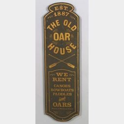 """""""THE OLD OAR HOUSE"""" Painted Wooden Trade Sign"""