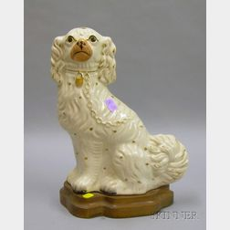 Seated Staffordshire Spaniel