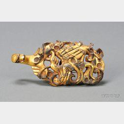 Gilt-bronze Belt Hook