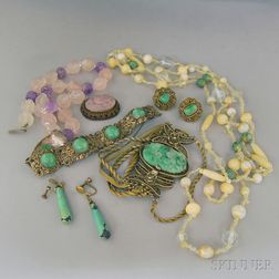 Small Group of Hardstone Jewelry
