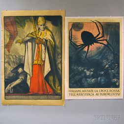 Two International Health and Catholic Lithograph Posters