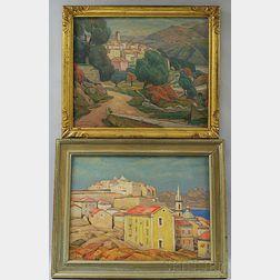 George Herbert Macrum (American, 1878-1970)      Two Paintings:   Calvi, Corsica