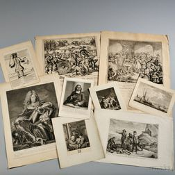 Dutch Engravings, Approximately Fifty-five Broadsides and Prints, 17th and 18th Century.