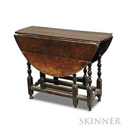 William & Mary Oak Gate-leg Table