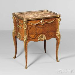Louis XVI-style Gilt-bronze and Marble-top Table à Ecrire