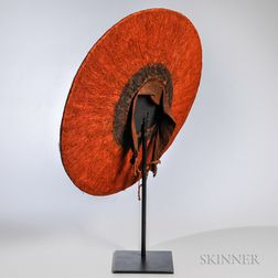 Zulu Ceremonial Hat on Stand
