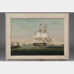 Thomas Chambers (New York/England, 1808-1869)      New York Harbor