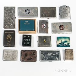 Group of Korean War-related Cigarette Cases