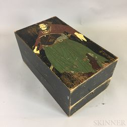 Painted Wooden Scroll Box