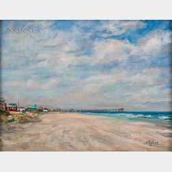 William Frahme (American, 1896-1985)      Beach Scene