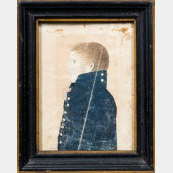 American School, Early 19th Century      Miniature Portrait of a Sailor