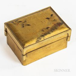 Gold-lacquered Covered Box