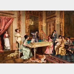 G. Dalla Noce (Italian, 19th Century)      A Lively Recital