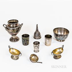 Group of Coin Silver and Silver-plated Tableware
