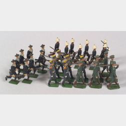 Britains Lead Soldiers Nos. 143, 216, 1284, and 1603