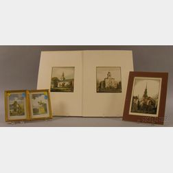 Lot of Five Framed and Unframed Wood Engravings of Massachusetts Views by Rudolph Ruzicka (American, 1883-1978)