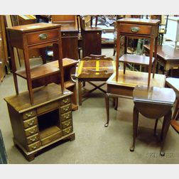 Seven Small Pieces of Assorted Reproduction Furniture