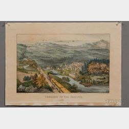 Currier & Ives, publishers (American, 1857-1907)      THROUGH TO THE PACIFIC.