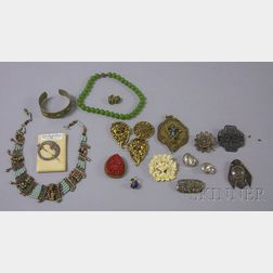 Group of Silver and Ethnic Jewelry