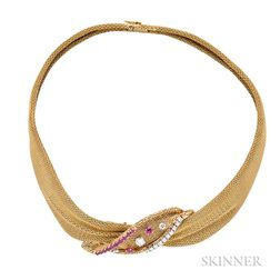 18kt Gold, Ruby, and Diamond Convertible Suite
