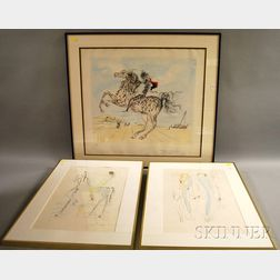 After Salvador Dali (Spanish, 1904-1989)      Three Prints: Return, Return, Shulamite