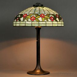 Mosaic Glass Table Lamp Attributed to J.A. Whaley