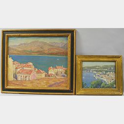 George Herbert Macrum (American, 1878-1970)      Two Paintings:   Bay of Calvi, Corsica