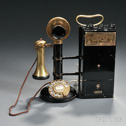 Candlestick No. 1 Pay Phone Station by Bell Telephone