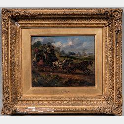 Samuel Henry Gordon Alken (British, 1810-1894)      Two Coaching Scene Paintings