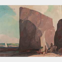 Hoyland Bettinger (American, 1890-1950)      The Percé Rock
