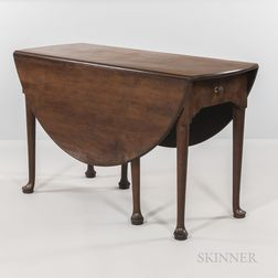 George III Walnut Drop-leaf Table
